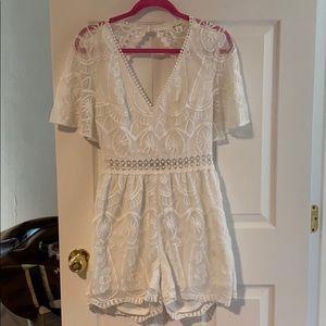Francesca's white lace romper